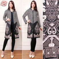 CJ Collection Blazer 2in1 batik dress maxi pendek wanita jumbo mini dress Aulia M - XL