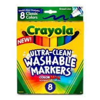 Crayola 8 Bright Colors Washable Markers