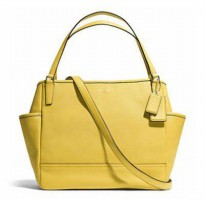 Coach Babybag Saffiano Leather Baby Bag tote Yellow