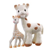 (Limited Offer) Sophie the Giraffe Teething Ring and Sophie Cherie Soft Toy