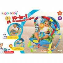 Bouncer Sugar Baby 10 in 1 Premium Rocker Rainbow Forest
