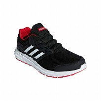 Sepatu Olahraga Lari Gym Fitness Sneakers Adidas Galaxy 4.0 Men's Shoes - Black B44622