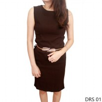 Women Dress Katun Coklat – DRS 01