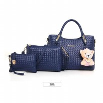 [PROMO!!] WOMAN HANDBAGS #ELV84395 3IN1 + GANCI BEAR IMPORT KOREA