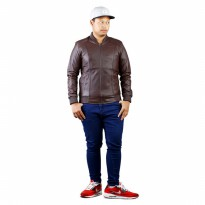 Jaket Pria/Jaket Kulit PriaJk Collection JRF 001 Coklat