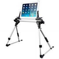 Lazy Flexible Foldable Tablet PC Smartphone Stand - Hitam