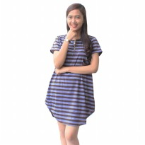 Mini Dress Stripe / Atasan Soft Cotton / Dress simple / Atasan Simple Kode : 2230