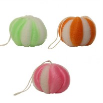 EELIC Spons Mandi, Shower puff, Busa Mandi Model Manggis 3pcs Warna hijau, pink, Orange