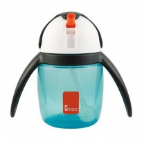 Umee Penguin U-Cool Straw Cup 240ml - Blue