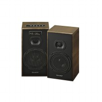 Sharp CBOX-B625UBO Active Speaker Wooden Walnut Design [PMPO 9.000 W] + Free Delivery