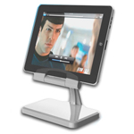 New Rotational Charger Stand for iPad 2 iPad - Silver