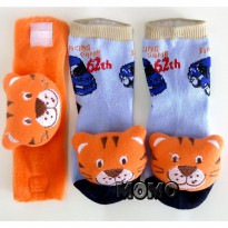 Kaos kaki boneka bayi plus gelang - baby boy & girl - multicolour