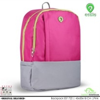 Tas Ransel Anak Laptop Sleeve free Raincoat / Raincover 722 Pink