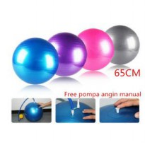 Gym ball size65cmberat799gram Bola fitness Yoga ball BONUS Pompa angin