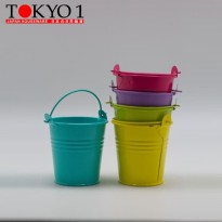 [POP UP IDEA] Tokyo 1 Pot Bunga Bahan Besi Small Tin Pail (200709)