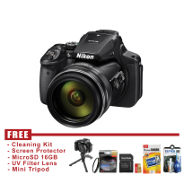 Nikon Coolpix P900 - HITAM - FREE ACCESSORIES