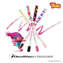 THE FACE SHOP Ink Gel Slim Mechanical Pencil Eyeliner Trolls Edition