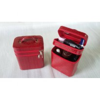CROCODILE TAS MAKE-UP | BEAUTYCASE RED