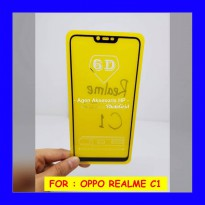 Oppo Realme C1 - Full Cover Tempered Glass 5D Screen Protector