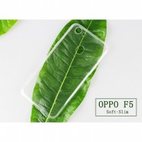 Oppo F5 Case Ultra Thin TPU Softcase (Clear Transparan)