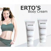 Ertos Body Cream Krim Kulit Kinclong BPOM
