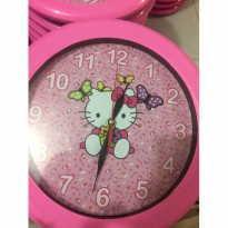 Jam dinding carakter cartoon Hello kitty 2