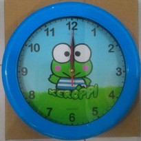 Jam dinding karakter cartoon Keropi 2