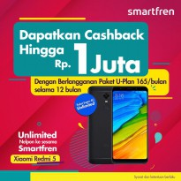 Xiaomi Redmi 5 3/32 GB Free SMARTFREN UNLIMITED INTERNET U-PLAN 12 BULAN