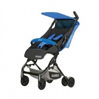 Elle Gogo Mini Stroller Black Frame - Blue