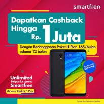 Xiaomi Redmi 5 Plus 3/32 GB Free SMARTFREN UNLIMITED INTERNET U-PLAN 12 BULAN