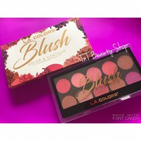 [Siap Kirim] LA Colors Blush Color & Contour Pallete