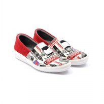 Dr.Kevin Canvas Shoes 43181 Red / White