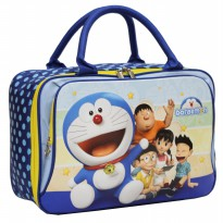 New Travel Bag Anak DUA Kantung Doraemon Kain Sponge Tahan Air