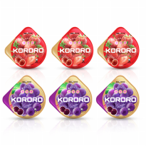 UHA KORORO MIX FLAVOUR GRAPE AND STRAWBERRY 6 PACK 40 g