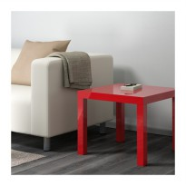 IKEA LACK Meja samping, high-gloss merah