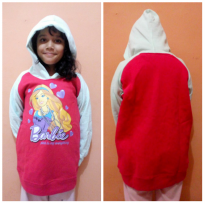 Sweater Hoodie Anak SD Motif Barbie