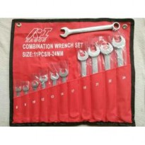 Kunci Kombinasi Ring Pas Isi 11Pcs / Combination Wrench Set 8-24MM
