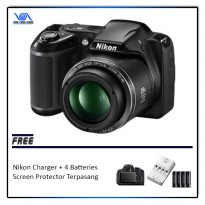 Nikon Coolpix L340 With Charger + 4 Rechargeable Batteries