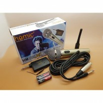Microphone Single Wireless HOMIC HM bahan metal