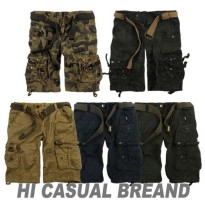 Special Discount Club Apgujeong G 1336 Vintage Cargo Shorts Men Plus Size Men's Cargo Shorts Part 5 military cargo pants shorts