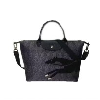 Tas Wanita Authentic Longchamp Le Pliage Horse Dotted