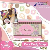 PURE SOAP BPOM BY JELLYS / PURE BODY SOAP BY JELLYS SJ0065