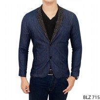 Men Denim Blazer Stretch Jeans Navy – BLZ 715