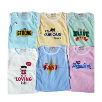 Singlet Anak Hello Baby I'm Beautiful Isi 6pcs