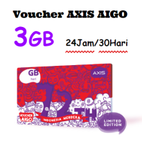 VOUCHER Paket Data AXIS AIGO Kuota 3GB 30 Hari