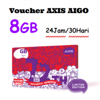 VOUCHER Paket Data AXIS AIGO Kuota 8GB 30 Hari
