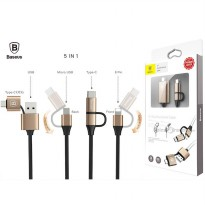 Baseus 5-1 Multifunctional Cable (Lightning 8-Pin - Type-C - Micro USB)