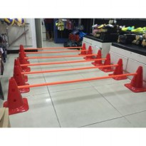 Agility pole hudrle training set for indoor outdoor equiptment mitre
