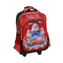 Tas Trolley Anak SD - CARS Apolo 6D Timbul 2 Kantung Import
