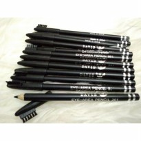 Pensil Alis DAVIS Black Warna Hitam Plus Sikat